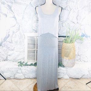 Boutique Jersey Gray Maxi Dress Sleeveless Small